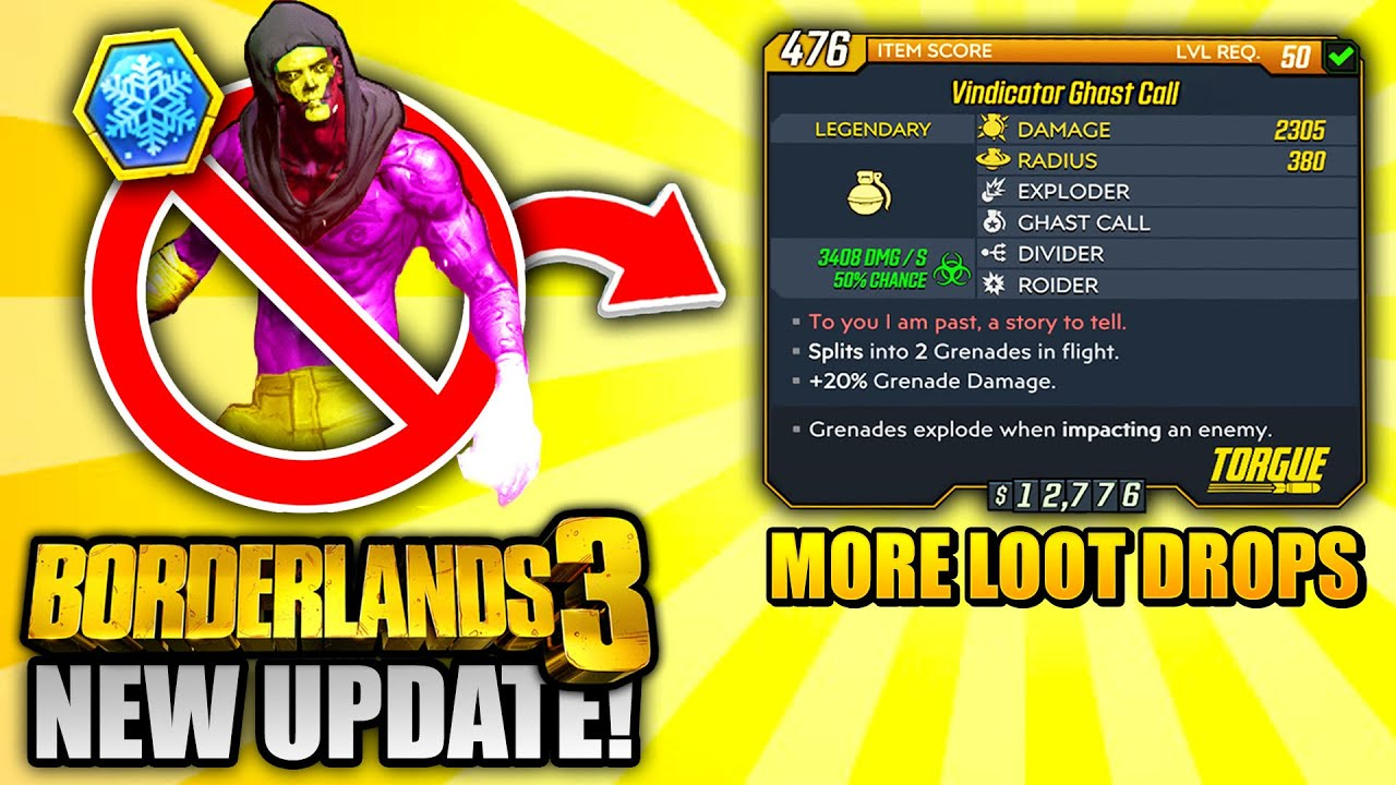 Borderlands 3 NEW UPDATE - EVERYTHING YOU NEED TO KNOW! thumbnail