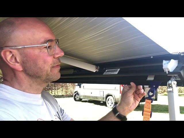 Markise am Kastenwagen oder Wohnmobil richtig ausfahren und sichern