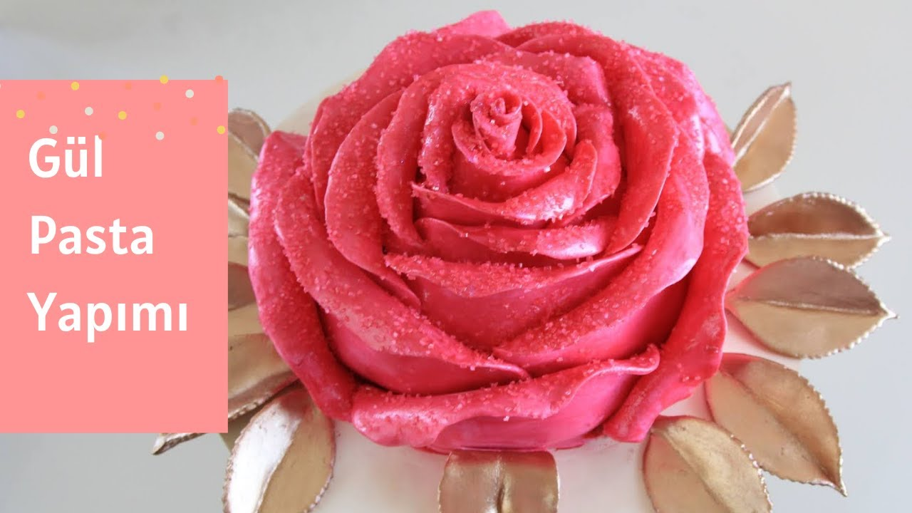 Gül Pasta Nasıl Yapılır 🌹 | How to make rose cake