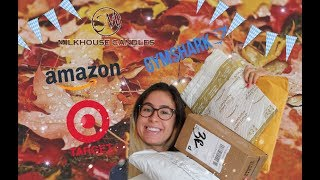FALL HAUL AND UNBOXING  + FALL APARTMENT DECOR TOUR