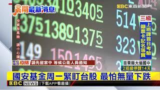 三級警戒首開盤日 國安基金待命護盤防台股重挫 @57東森財經新聞