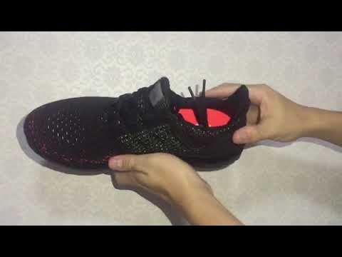 Adidas Ultra BOOST CLIMA Men Running Shoes Black Green Red