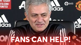 Man United vs Liverpool: Jose Mourinho Press Conference FANS CAN HELP!
