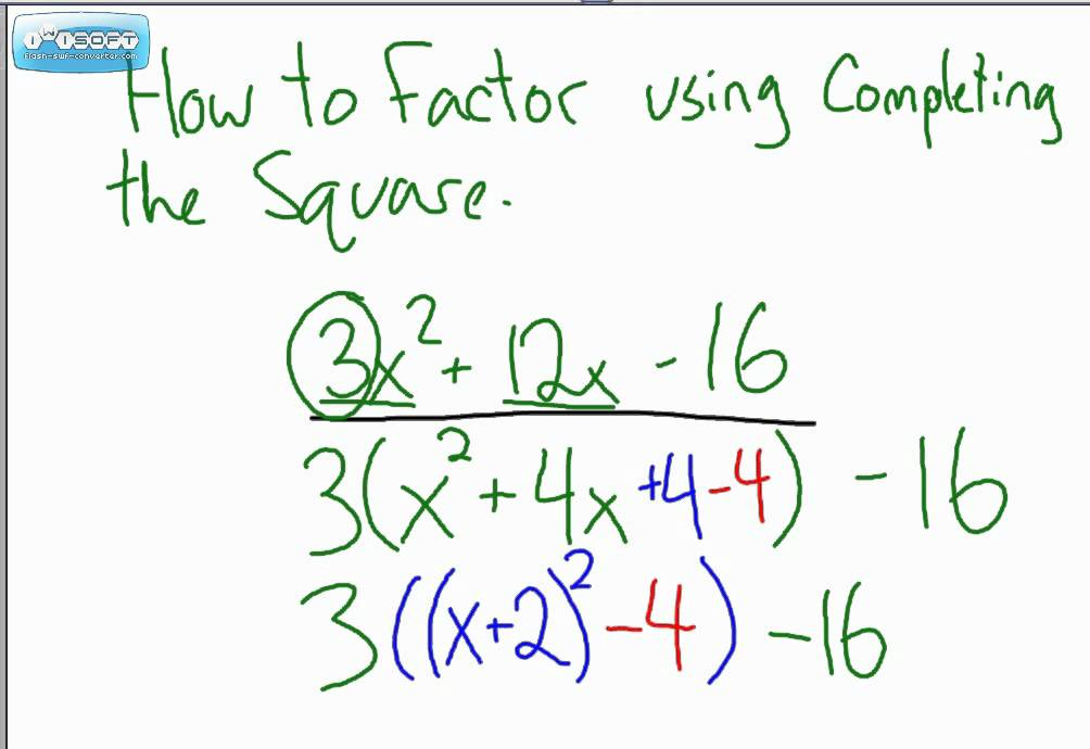 Factoring Using Completing The Square 1  Youtube. Companies Tracking Employees. Public University Online Health Club Software. Aqua Pure Filters Home Depot. How To Become A Sales Agent Hotels In Pisa. Free Driveaway Insurance Military Travel Card. Online Universities In Colorado. Web Design Bachelor Degree Online. Online Time And Attendance Software