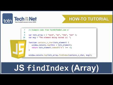 How to use the JavaScript findIndex (Array method) thumbnail