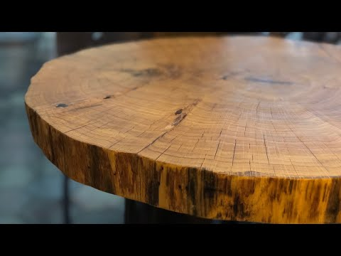 Coffee Table - Oak Cookie Slab - DIY