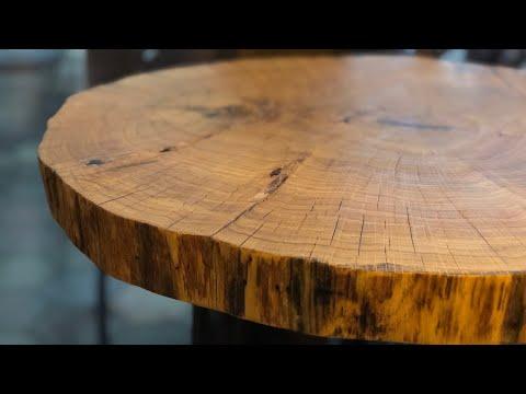Coffee Table Oak Cookie Slab Diy Youtube