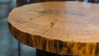 Cookie Slab Coffee Table - Oak
