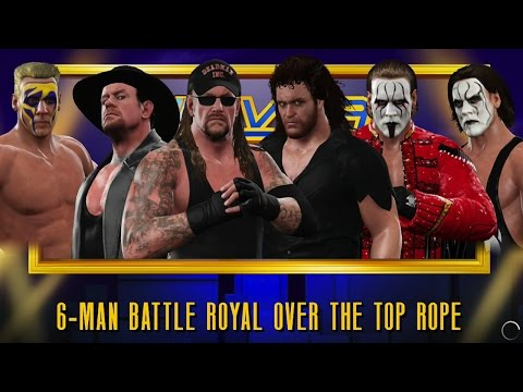 WWE 2K17 UNDERTAKER,'00,'91 Vs. STING,'91,'99 6-MAN BATTLEROYAL SIMULATION
