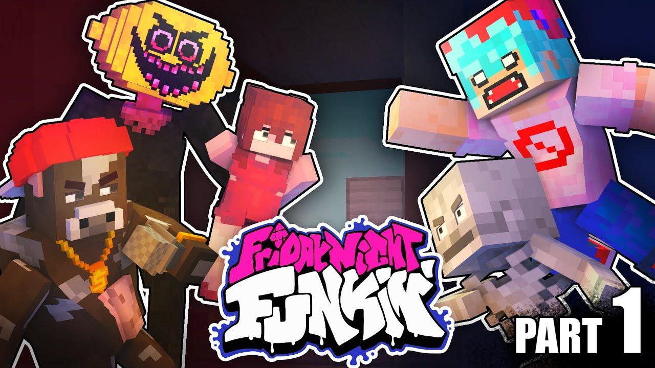 Monster School : FRIDAY NIGHT FUNKIN but Girlfriend gets Captured! - Minecraft Animation