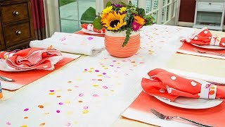 How To - Paige Hemmis&#39 DIY Table Runner - Home &amp Family