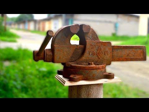 Восстановление тисков из металлолома
