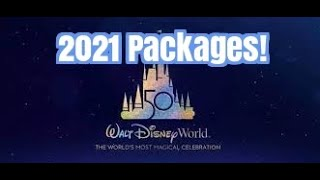 Walt Disney World 2021 Packages Now Available!
