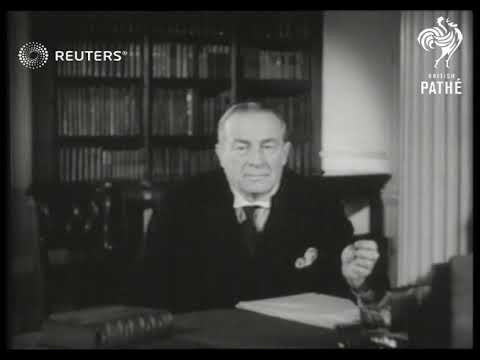 Prime Minister Baldwin delivers address on recovery efforts (1936)
