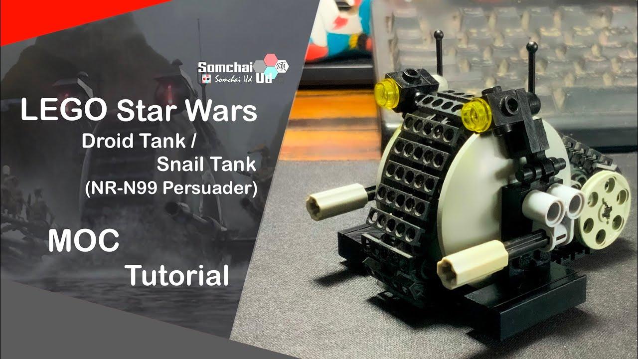 lego star wars mini droid tank  snail tank 🐌 moc tutorial