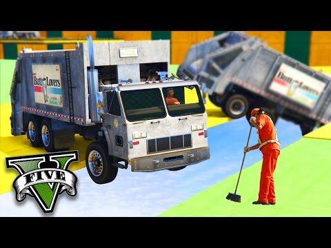 GTA V Online: GARIS vs CAMINHÃO de LIXO - O MAIS DAORA!!