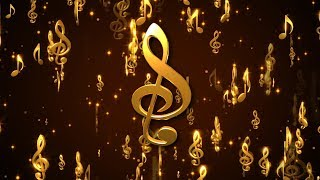 Golden Music Note || animated motion Background loops || HD|| Free Downlode