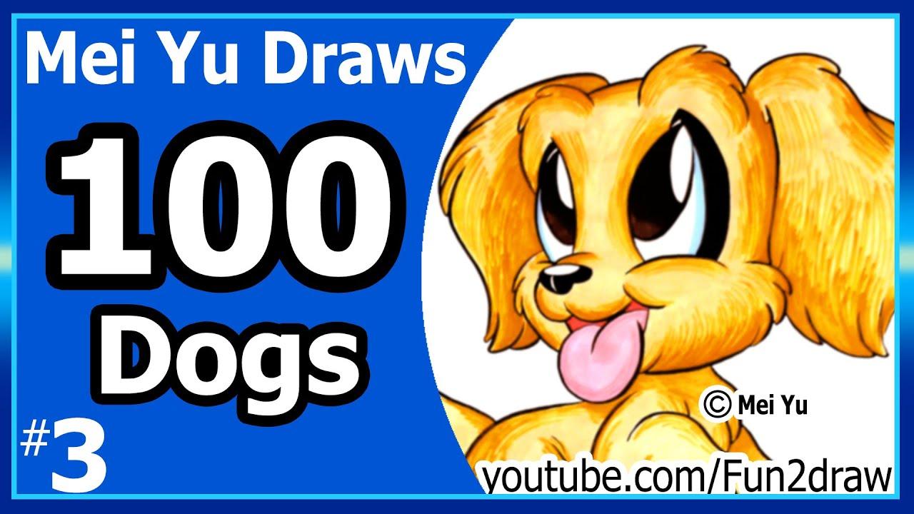 Cute golden retriever puppy mei yu draws 100 dogs 3 100 cute golden retriever puppy mei yu draws 100 dogs 3 100 drawings challenge fun2draw ccuart Images