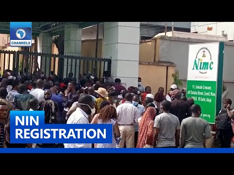 Long Queues Return To NIMC Offices In Lagos & Abuja