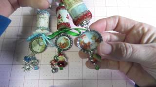 Christmas cork ornaments