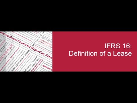 IFRS 16: Definition Of A Lease