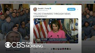Trump tweets edited video of Nancy Pelosi
