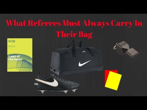 What Referees Should Always Carry In Their Bag!! | Football Refereeing Tips