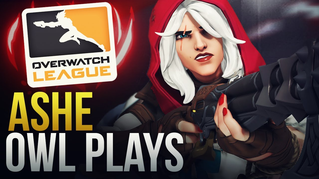 BEST ASHE PRO PLAYS - OVERWATCH MONTAGE