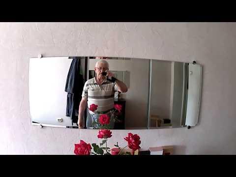 Вешаем на стену на специальные крепления зеркало-стекло без окантовки. Лежа. Guru From The USSR