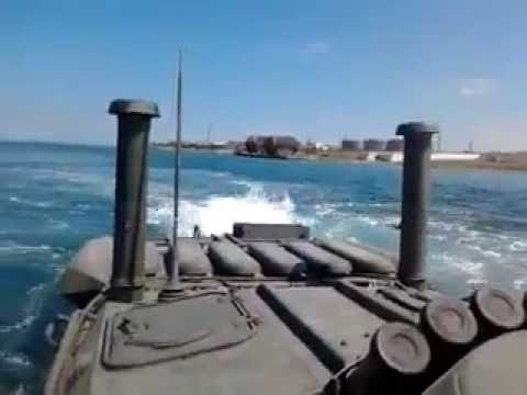 Sailing on BTR-80 - Soviet Amphibious Armoured Personnel Carrier