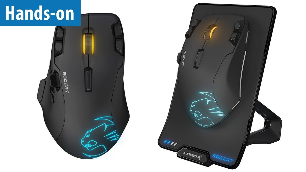 Wireless-Gaming-Maus mit 12000 DPI - Roccat Leadr im Hands-on ...