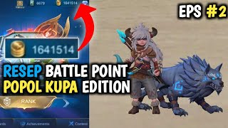 SCRIPT 1,6 JUTA BATTLE POINT MOBILE LEGENDS TERBARU MEI 2020 MLBB INDONESIA CHEAT BP POPOL KUPA