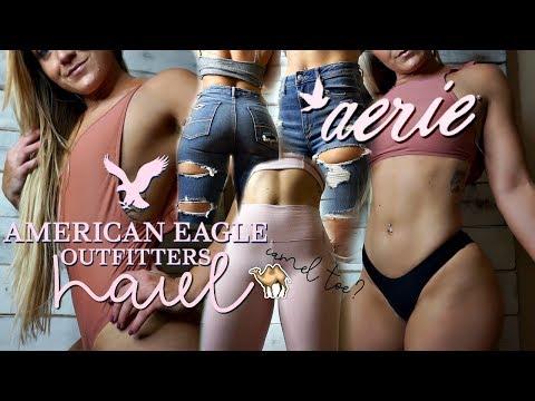 AERIE & AMERICAN EAGLE   jeans, bikinis, activewear haul