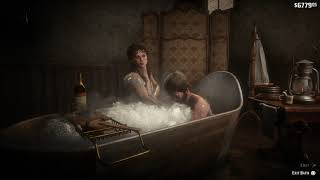 Arthur Morgan taking a Deluxe Bath in Valentine town - Red Dead Redemption 2 / RDR2