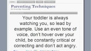Parenting Techniques for Toddlers