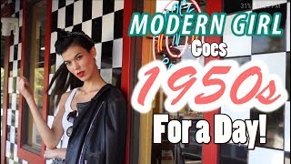 Modern Girl Lives Vintage For a Day! | 1950s