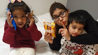 Find the Candy Pack. Pretend Play from Ishfi and Auntie