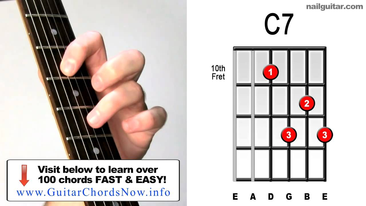 c7 how to play must learn acoustic electric guitar bar chords youtube. Black Bedroom Furniture Sets. Home Design Ideas