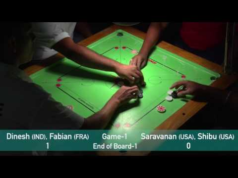 US OPEN CARROM GRAND SLAM 2016: Doubles 3rd Position - Game 1