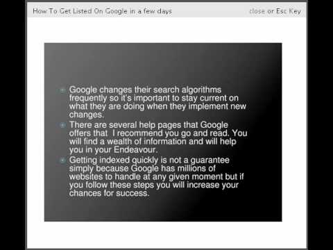 Yournetbiz and How to get Listed By Google in just a few days