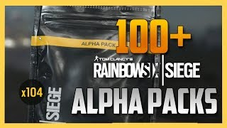 Opening ONE HUNDRED Alpha Packs in Rainbow Six Siege! (R6)