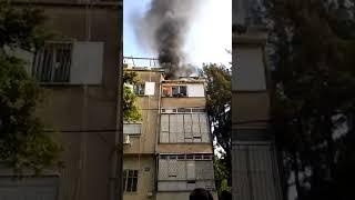 דליקה בדירה בחיפה