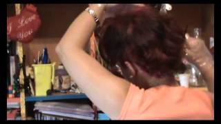 1ª PARTE tinte de pelo y corte en mi misma xvid