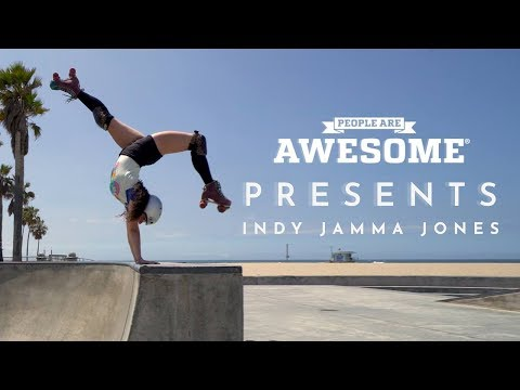 People Are Awesome Presents: Indy Jamma Jones | Roller Skating