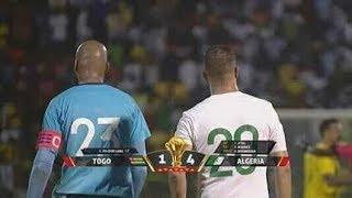 ملخص مباراة . توجو 1-4 الجزائر  الجولة الخامسة - تصفيات كأس الأمم الأفريقية 2019