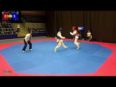 228- Hasibullah Tarakhil, Chae Taekwondo Sweden vs. Frederik Emil Olsen, Soo Shim TKD Klubb 5-28
