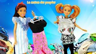 Vidéo avec les poupées pour les filles. L'essayage des robes.
