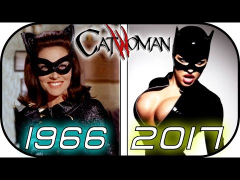 EVOLUTION of CATWOMAN in MOVIES & TV SERIES Selina Kyle 1966  2017 Batman