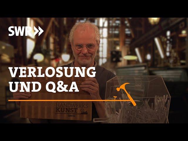 Handwerkskunst - Das Quiz: Die Auflösung und Q&A zur Produktion