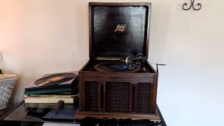 "Underneath the mellow ""1910 handcrank record player or gramophone/phonograph)"